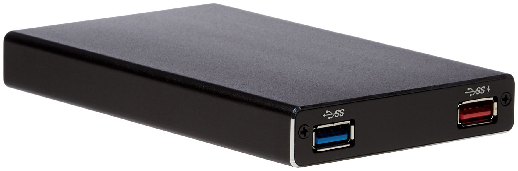 SilverStone Technology 2.5'' Hard Drive / SSD Enclosure with USB 3.1 Gen 1 Type-C Port, Power Delivery up to 60 Watts, and USB Type-A Hub TS15B