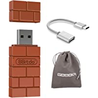 8Bitdo USB Wireless Bluetooth Adapter for Windows, Mac OS, Raspberry Pi, and Switch, Compatible with all 8Bitdo Controllers