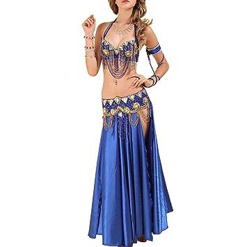 Huatime Danza Ropa Mujer Faldas - Danza del Vientre Carnaval Nuevo Traje de Poliéster Adulto Rendimiento Sujetador Traje de Escenario Fiesta Vestido: ...