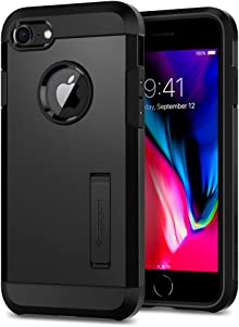Spigen Coque iPhone 8, Coque iPhone 8/7 [Tough Armor 2] Heavy Duty [Noir] Slim Dual Layer Protective Housse Etui Coque pour iPhone 8/7 - (054CS22216)