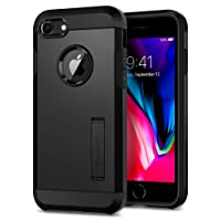 iPhone 8 Case, Spigen Tough Armor [2nd Generation] Extreme Heavy Duty Protection and Air Cushion Technology for Apple iPhone 7 (2016) / iPhone 8 (2017) - Black