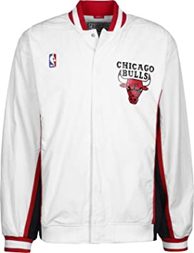 43ffb60646c2c Mitchell & Ness Chicago Bulls 1992-1993 Authentic Warm Up Jacke White S