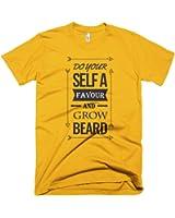 DO YOUR SELF A FAVOUR – GROW BEARD MEN'S T-SHIRT