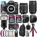 Holiday Saving Bundle for D7100 DSLR Camera + AF 70-300mm G Lens + AF-P 18-55mm + Flash with LCD Display + 6PC Graduated Color Filter Set + 2yr Extended Warranty + 32GB - International Version