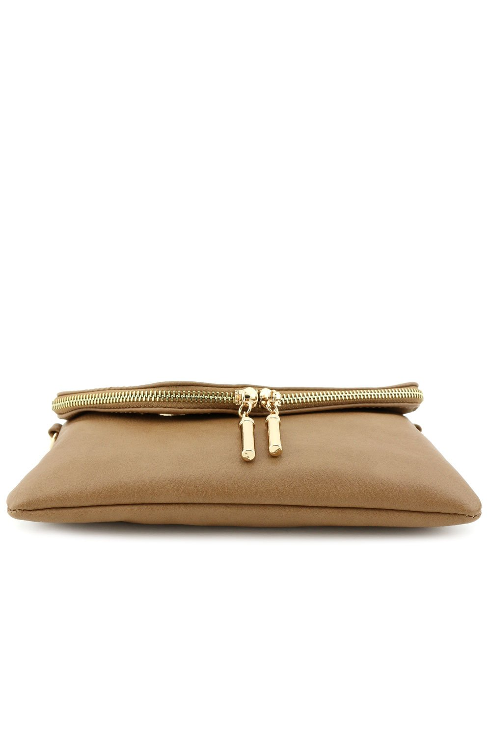 Envelope Wristlet Clutch Crossbody Bag with Chain Strap Stone by FashionPuzzle (Image #8)