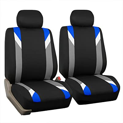 FH Group FB033BLUE102 Bucket Seat Cover (Modernistic Airbag Compatible (Set of 2) Blue): Automotive [5Bkhe2002269]