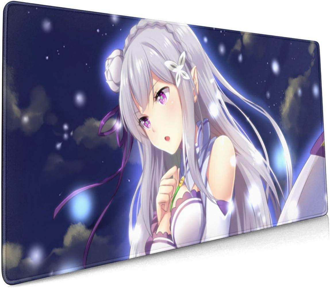 Amazon.com: PHOEBE DOHERTY Re Zero-Emilia Anime Mouse Pad 9.9 X