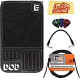 DigiTech DOD Mini Expression Pedal Bundle with Instrument Cable, Patch Cable, Picks, and Austin Bazaar Polishing Cloth