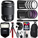 Tamron 18-200mm Di II VC Lens for Canon + Speedlite 430EX III-RT + UV-CPL-FLD Filters + Macro Filter Kit + 72 Monopod + Lens Hood + 32GB Class 10 + Backpack + Spider Tripod - International Version