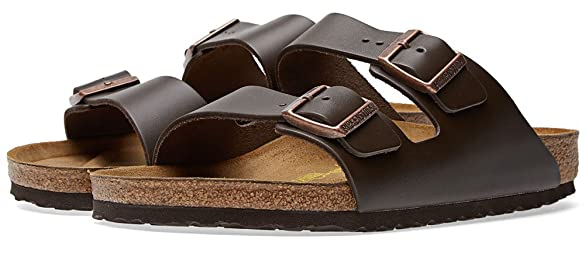 birkenstock arizona dark brown natural oiled leather sandals unisex