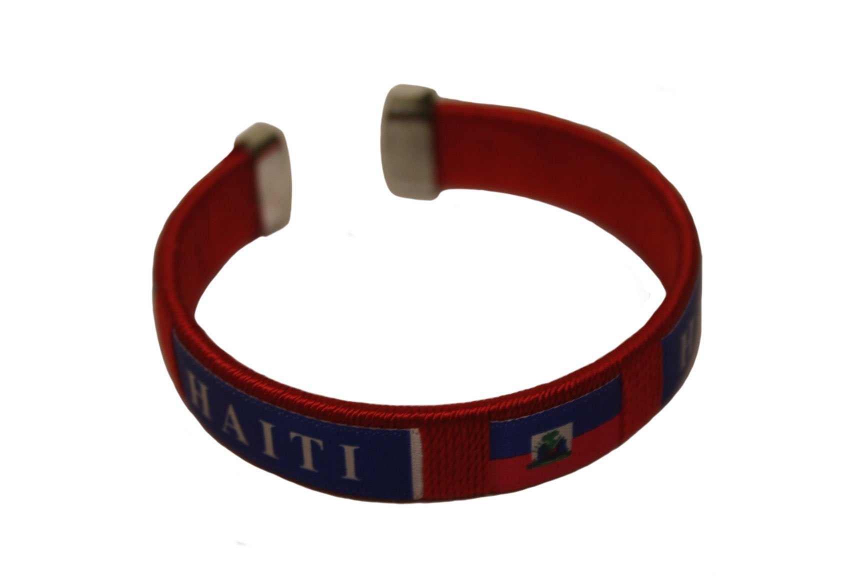 Haiti Red Country Flag Flexible Adult C Bracelet Wristband ... New by SUPERDAVVES SUPERSTORE (Image #1)