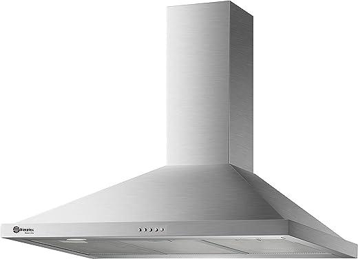 شفاط مطبخ 90 سم هرمي، ماطور المنيوم، قوة الشفط 1200 M/hr