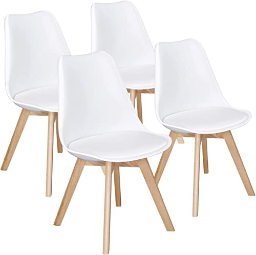 Yaheetech Dining Chairs DSW Chair Tulip Chair Shell PU Side Chair