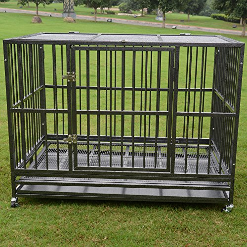 Sliverylake 3xl 48 Heavy Duty Strong Metal Pet Dog Cage