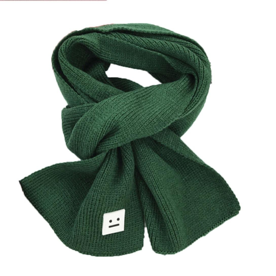 Binmer(TM) Smile Children Knitted Scarf Winter Keep Warm Girls Boys Scarves (Green)