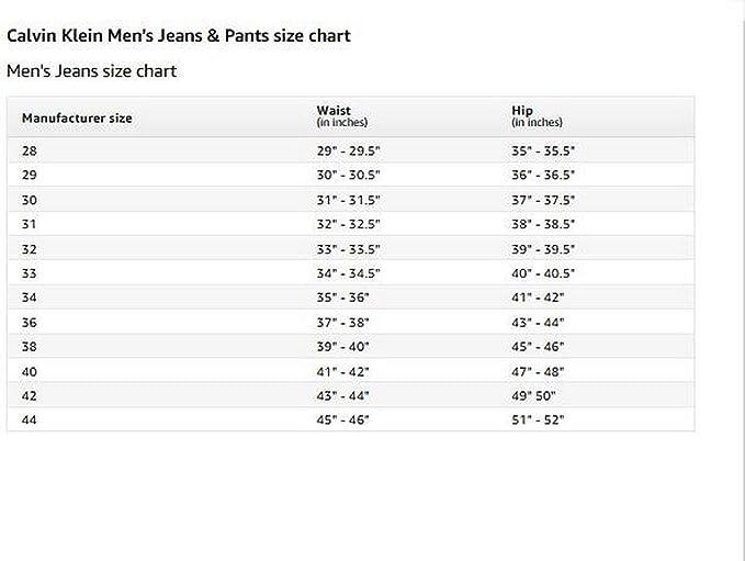 Men's Size Guide   CALVIN KLEIN®