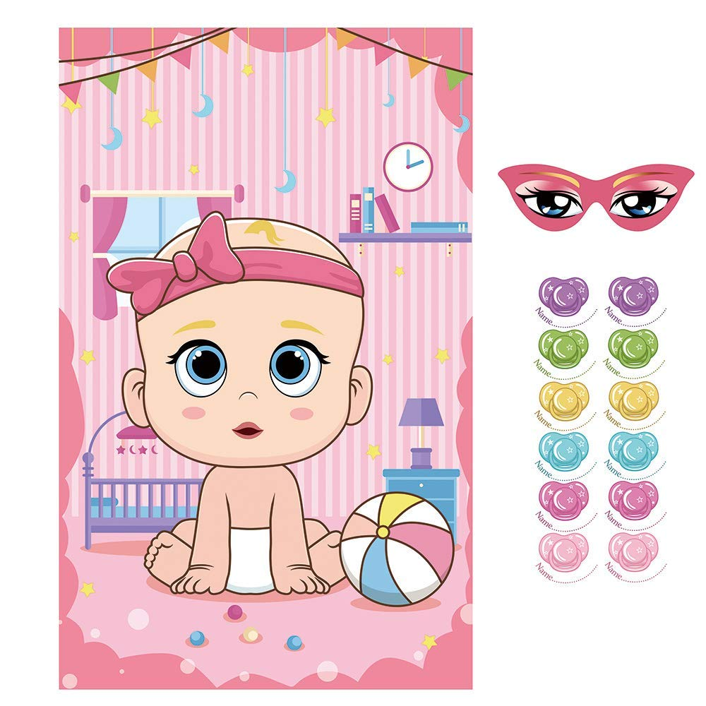 Amazon.com: VEYLIN Pin The Dummy on The Baby Game Include ...