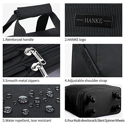 Hanke Expandable Foldable Suitcase Luggage Rolling Travel Bag Duffel Garment Tote Bag for Men Women by Hanke (Image #6)