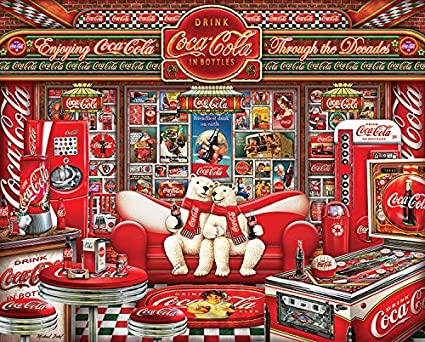 37498a7f0e53 Image Unavailable. Image not available for. Color  Springbok Puzzles - Coca  Cola Decades - 1000 Piece Jigsaw Puzzle - Large ...