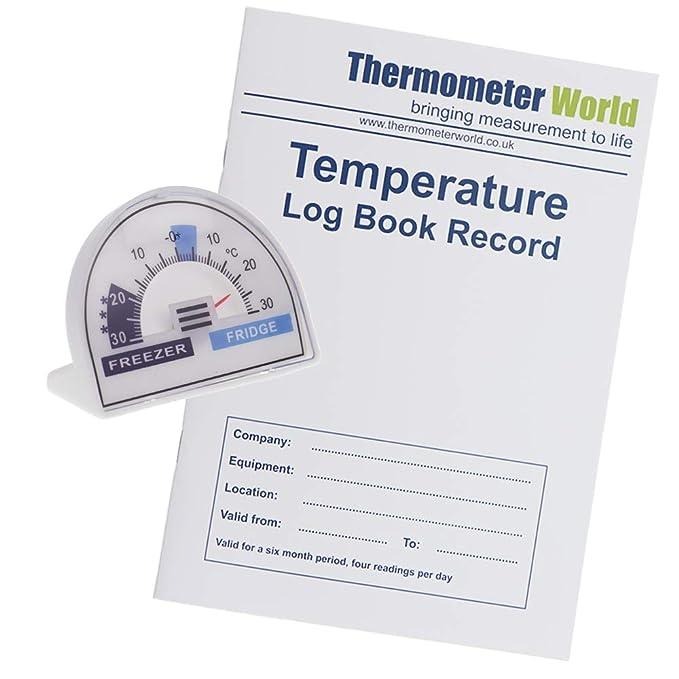 Libro de registro de temperatura con termómetro para nevera con ...