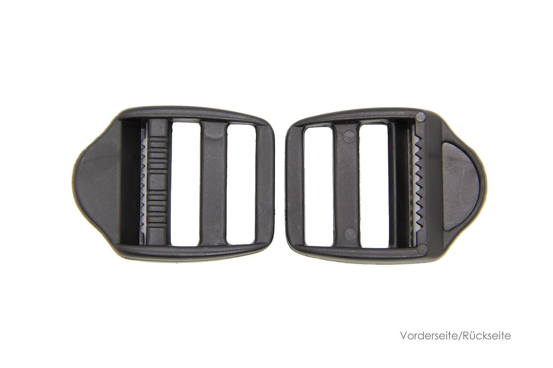 NTS Nähtechnik 10 Klemm-Leiterschnallen aus Kunststoff (20mm)