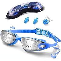 Gafas de Natación, LONK Swimming Goggles Impermeable UV Anti-Niebla Deporte Profesional Ajustable para Hombres Mujeres Gafas Deportivas con Auriculares