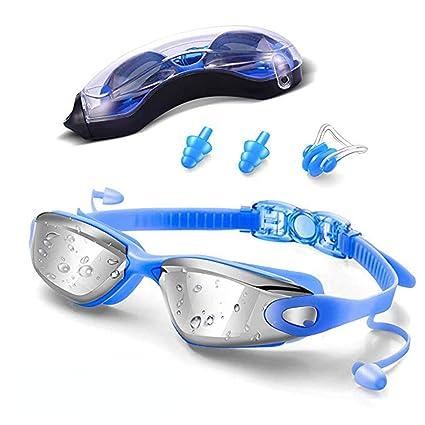 d42c783fb392 Gafas de Natación, LONK Swimming Goggles Impermeable UV Anti-Niebla Deporte  Profesional Ajustable para Hombres Mujeres Gafas Deportivas con ...