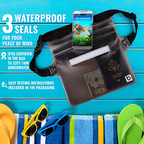 dd2164d8d6e Waterproof Pouch with Waist Strap (2 Pack)