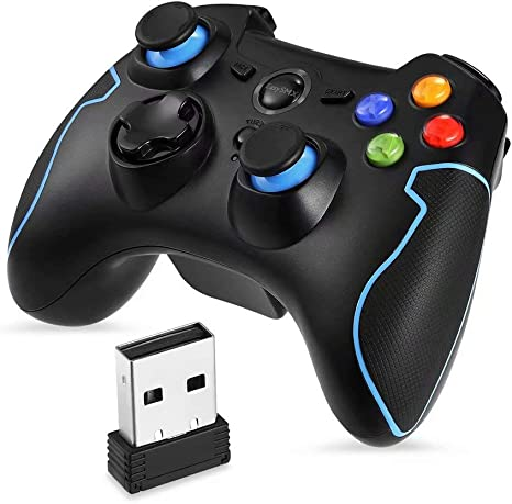 CSZH Wireless Gamepad Mando de juegos Mando Compatible con PC ...
