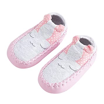 7cf7b895edeba Amazon.com: NUWFOR Newborn Baby Boys Girls Animal Warm Slipper Anti ...
