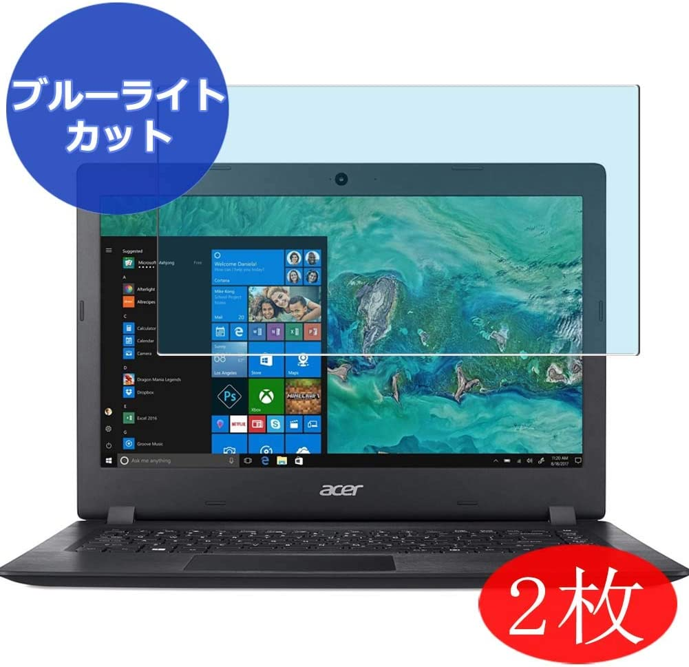 """【2 Pack】 Synvy Anti Blue Light Screen Protector Compatible with Acer Aspire 1 A114-32-C1YA 14"""" Anti Glare Screen Film Protective Protectors [Not Tempered Glass]"""