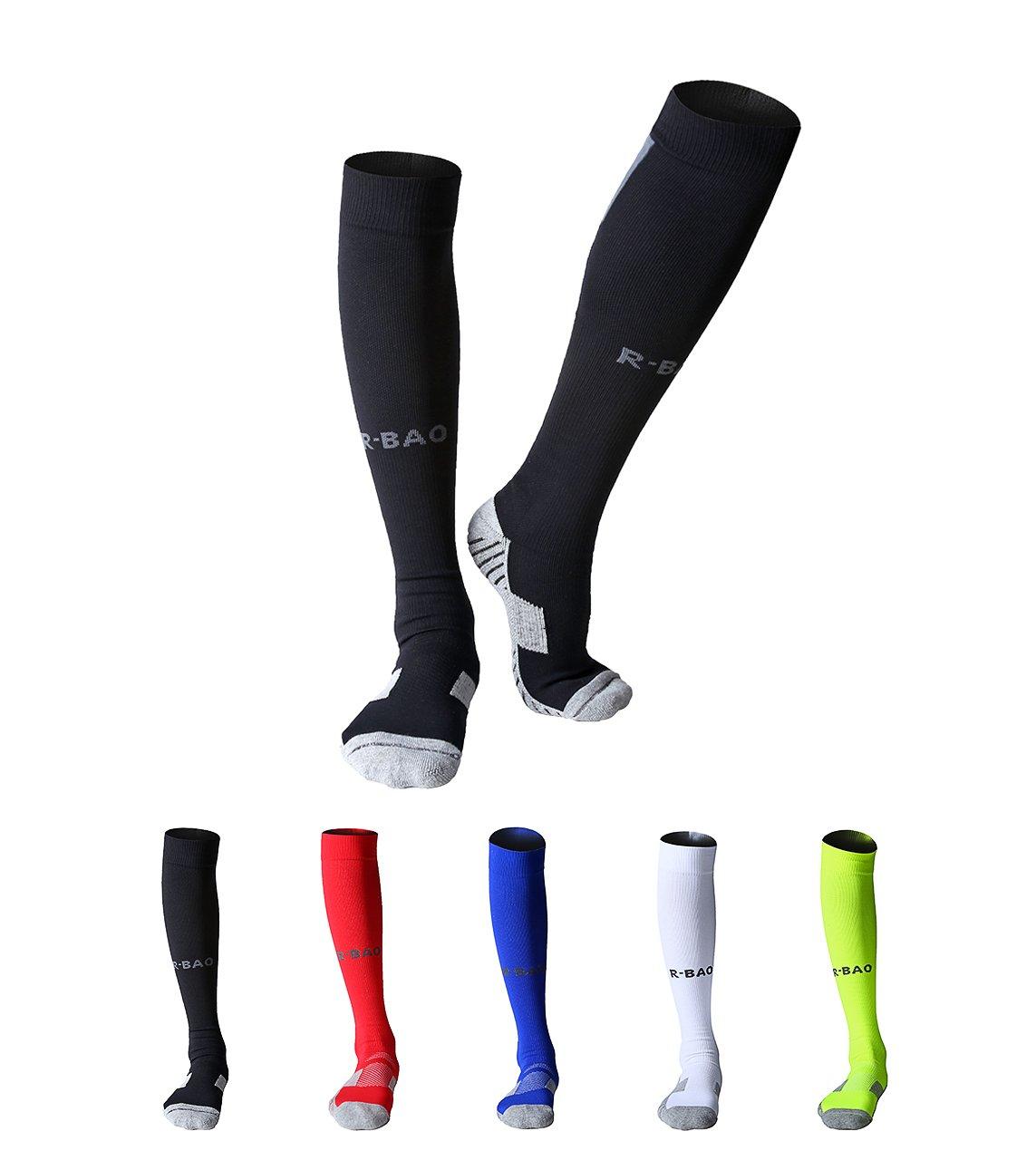 Maibuメンズ2ペアアスレチックソックスソフトコットンクッション圧縮FootballバスケットボールRunning Exerciseソックス B01MA0VN6M Black 2 pairs Black 2 pairs