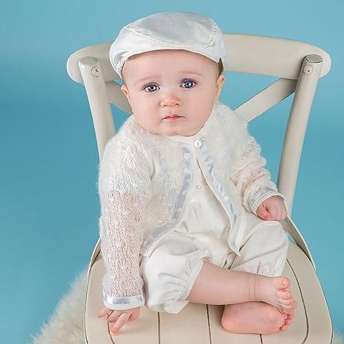 Amazon Com Owen Baby Boy Ivory Knit Christening And Baptism Sweater