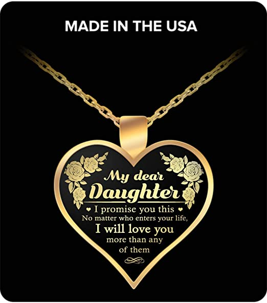 No Matter Who Enters Your Life Round Pendant Necklace Vuvuzi Tee to My Daughter