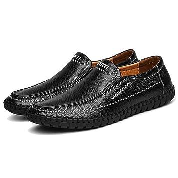Mode Chaussures de conduite en cuir pour homme (noir, marron) Taille: 38-47,marron,45