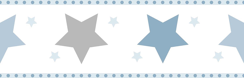 Dandino Cenefa Infantil de Estrellas, Azul