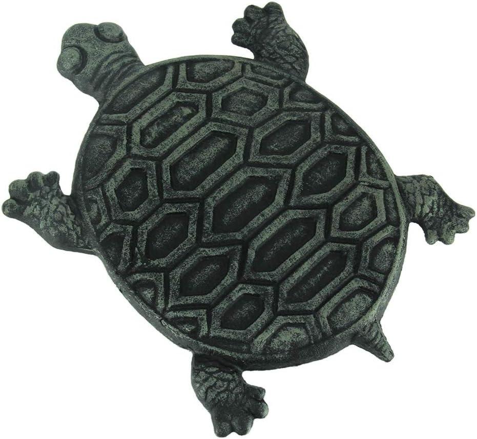 Juego de 4 de hierro fundido tortuga jardín piedra paso azulejos: Amazon.es: Jardín