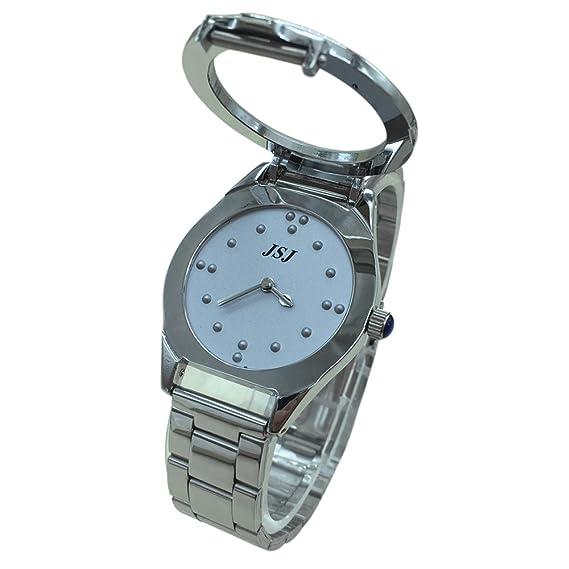 Reloj De Pulsera Braille para Invidentes o Personas Mayores Gris Dial (para hombre)