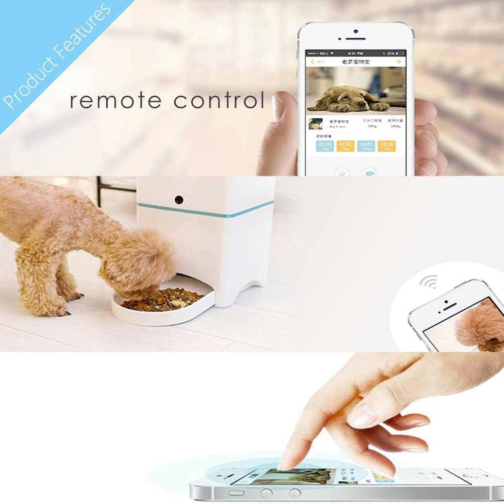 recording voice pet bowl dispenser remote food dry programmable with automatic feeder lcd dog cat for control meal dish products day