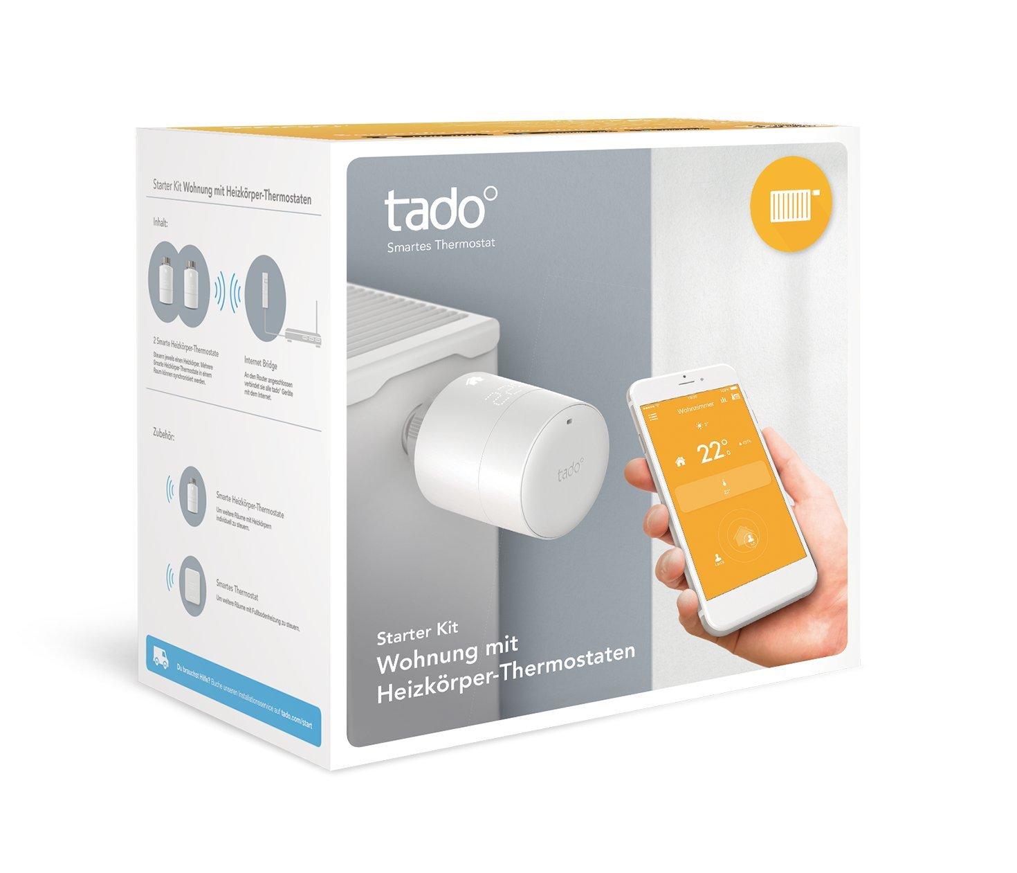 tado° Smartes Heizkörper-Thermostat Starter Kit für Wohnungen mit ...