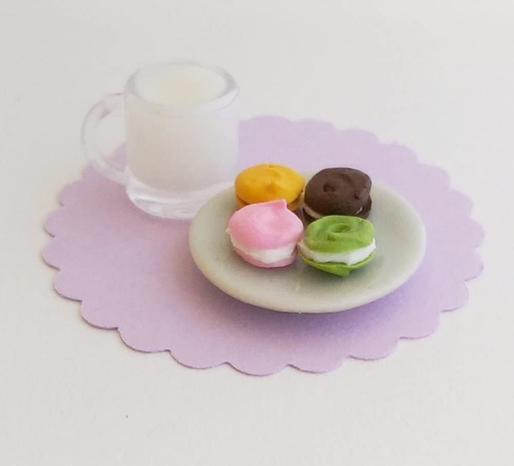 Miniature dolls Accessories Ceramic Bowls with Assorted Fruit  1:12th scale