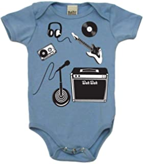 IN ROCK WE TRUST MUSIC SLOGAN LOVE OF ROCK BABY GROW SHOWER GIFT