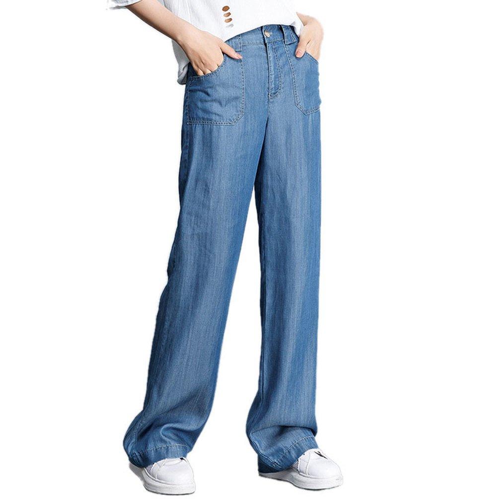 Anguang Donna Largo Gamba Lungo Denim Pantaloni Sciolto in