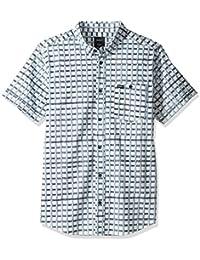 RVCA Men's Shaded Short Sleeve Woven Shirt