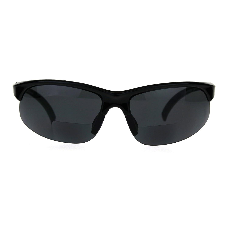 最も優遇 ブラック B00GW8YGBIメンズクラシックハーフリムスポーツワープサングラスwith二焦点老眼鏡レンズ B00GW8YGBI ブラック, つり具のマルニシ:610f9d65 --- arianechie.dominiotemporario.com