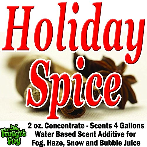 2 oz. HOLIDAY SPICE - Water Based Scent Additive for Fog, Haze, Snow & Bubble Juice - Scents 4 Gallons