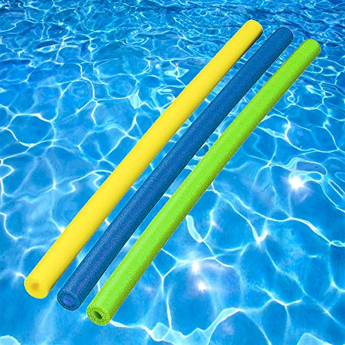 (The Dreidel Company Foam Pool Noodles - Pool of Noodles Deluxe & Famous - Assorted Colors (3-Pack))