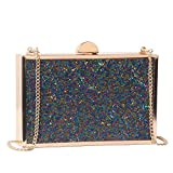 M10M15 Evening Clutch Purse Handbag for Women with Multi Navy Blue Purple Tube Crystal for Wedding and Party