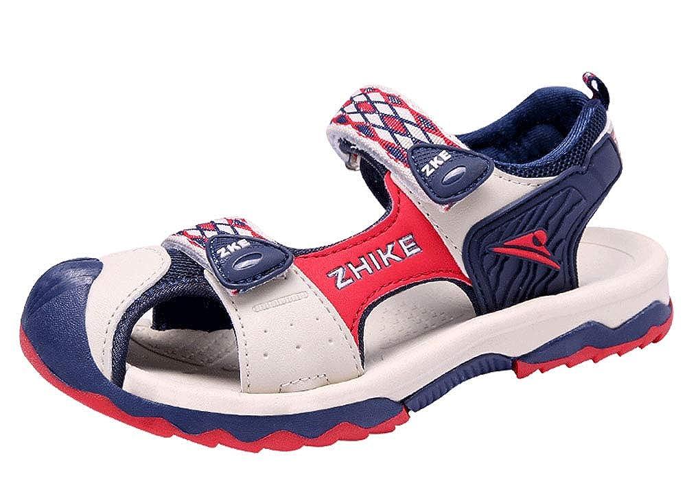 Gaatpot Unisex ni/ños Sandalias Deportivas Aire Libre Zapatos de Senderismo con Punta Cerrada Zapatilla de Deporte Rojo 34 EU = 35 CN