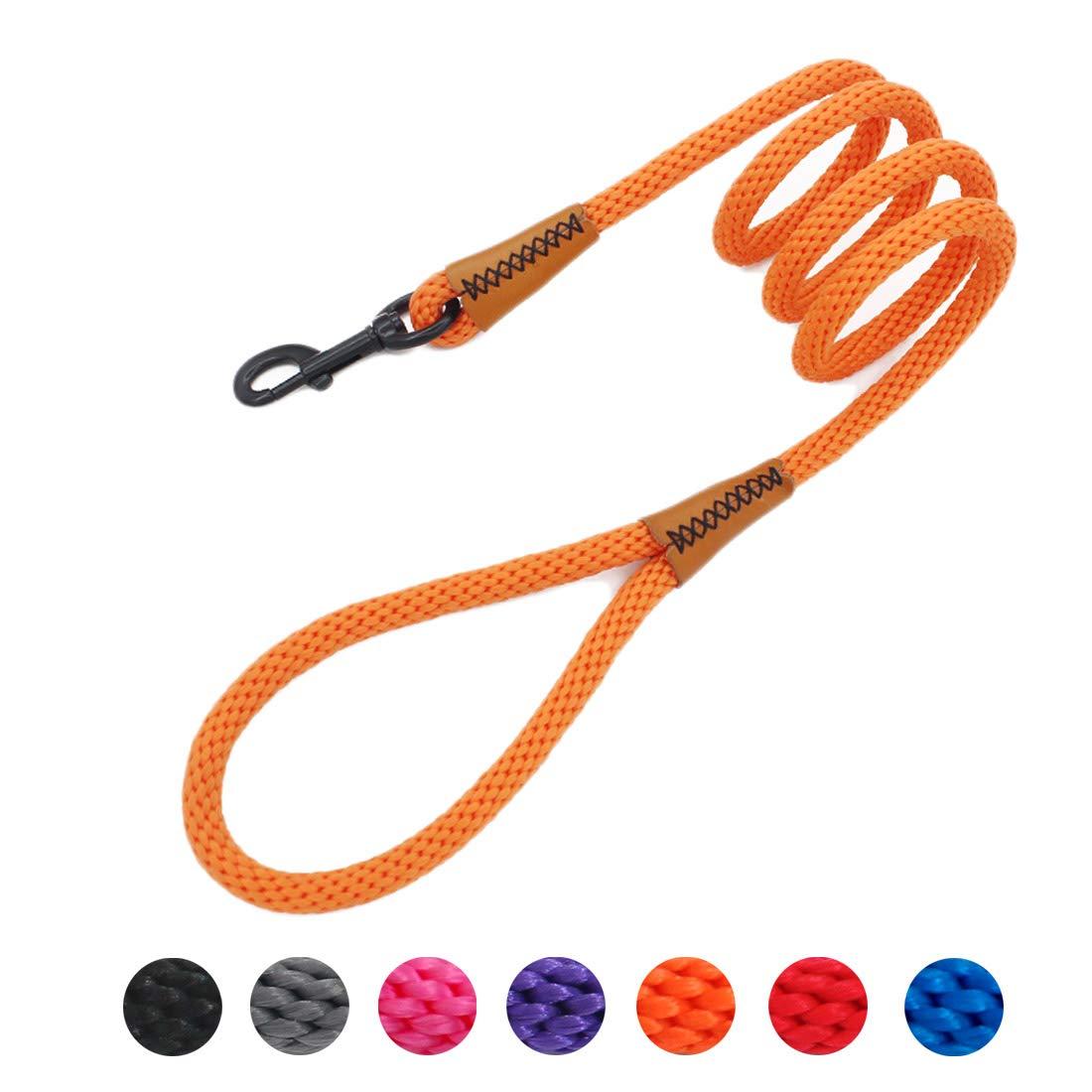 orange Braided Dog Rope Pet Leash Dog Traction Rope Leashes Dog Walking Training Lead for Small Medium Large dogs (orange)